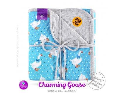 milovia dotness blanket 100x140 cm charming goose 2