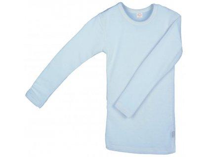 IoBio tričko dl. rukáv vlna/hedvábí - sky (Velikost 98/104)