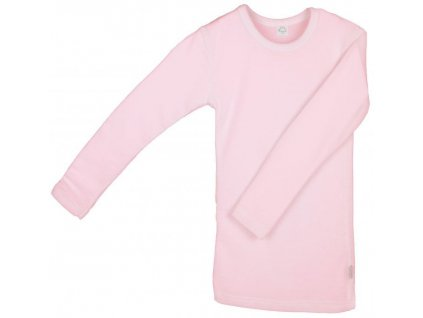 IoBio tričko dl. rukáv vlna/hedvábí - rose (Velikost 98/104)