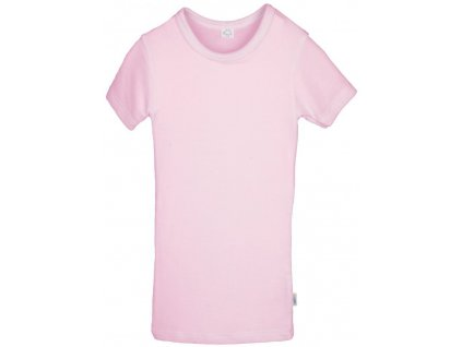 IoBio tričko kr. rukáv vlna/hedvábí - rose (Velikost 98/104)