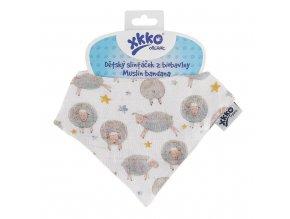 detsky slintacek xkko organic dreamy sheeps 62c