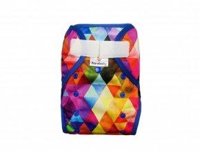 2889 svrchni kalhotky klasicky pul sz barevne trojuhelniky (1)
