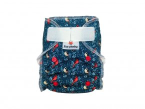 5525 novorozenecka kalhotovka sz cerveny ptacek