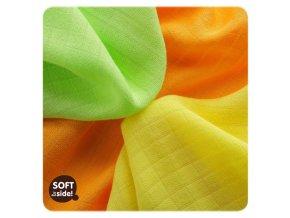 Bambusové plenové ubrousky KIKKO®BMB Colours 30x30cm - 9ks