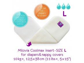 MILOVIA Coolmax vkládací plena L