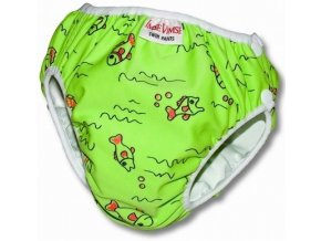 32607 plenkove plavky imsevimse ryby zelene vel l