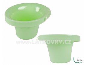 Potty L W-free - bezplenkový nočníček popolini -  zelená