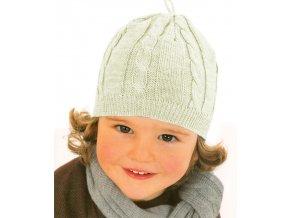 Čepička bavlněná pletená natural vel. 1
