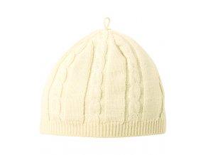 Čepička bavlněná pletená natural vel. 2