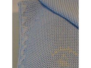 Biobavlněná deka pletená Disana, 100x80 cm, SVĚTLEMODRÁ