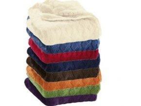 Vlněná deka pletená Disana, 100x80 cm