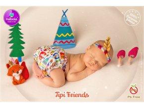 Milovia novorozenecké svrchní -  Tipi Friends