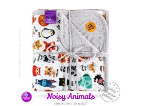 milovia dotness blanket 100x140 cm noisy animals 2