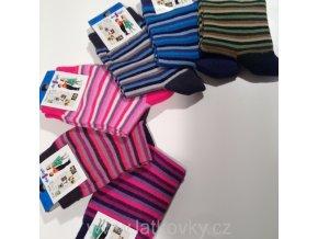 Ponožky DS PROUŽEK vel. 23-25 (Vzor DS choco)