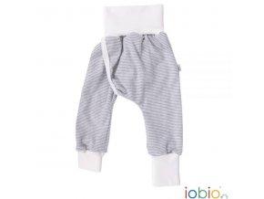 bezplenkové kalhotky iobio šedý proužek