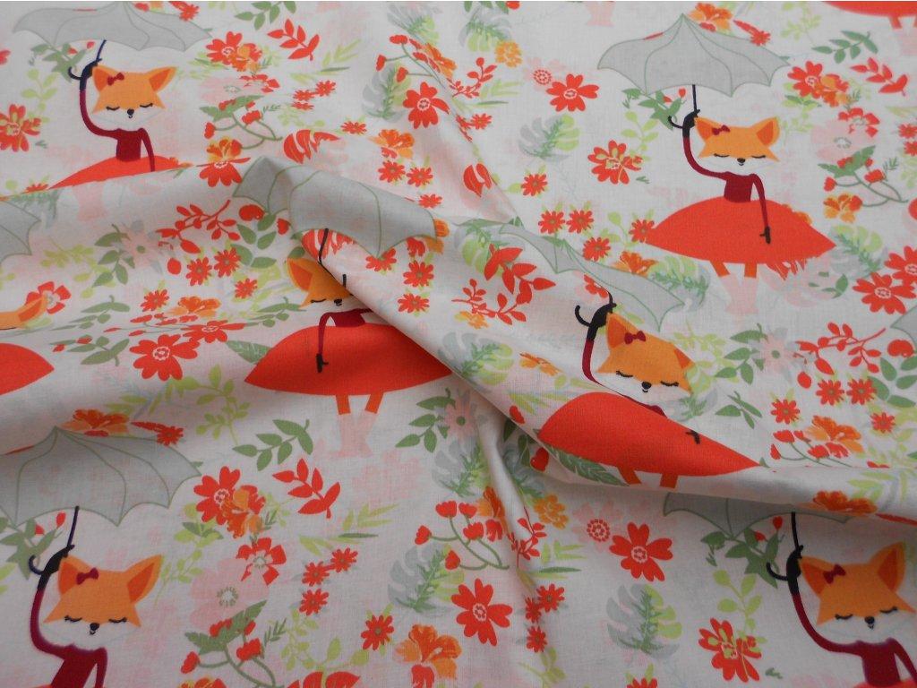 liška s deštníkem