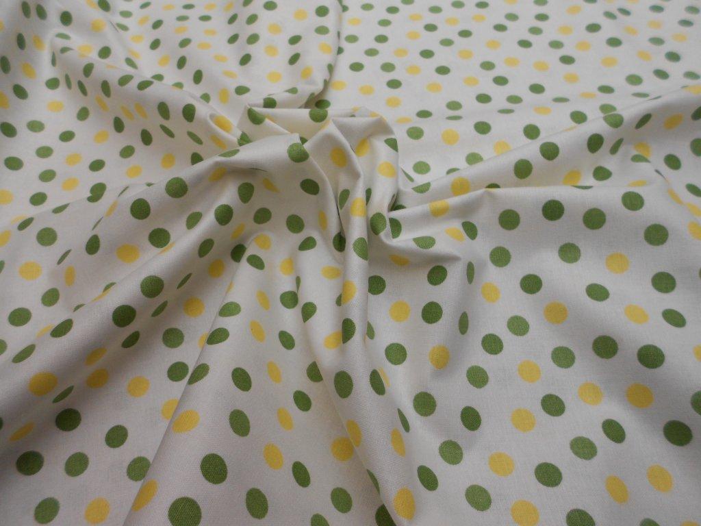 zelený a žlutý puntík