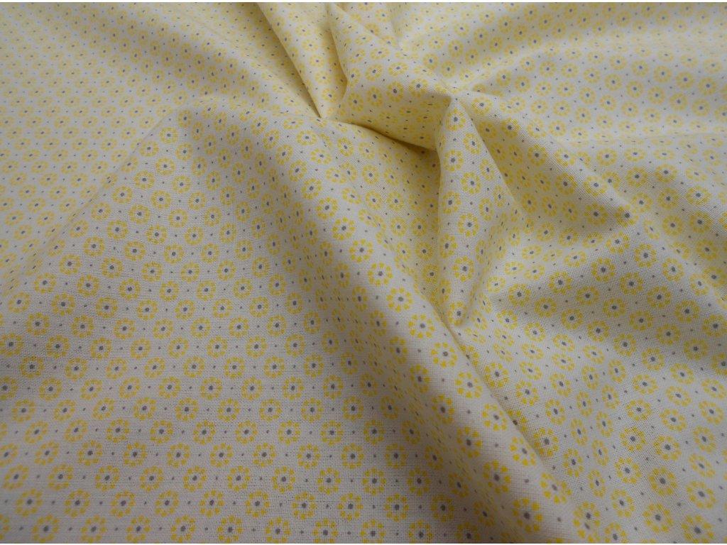 žluto-šedá kytička