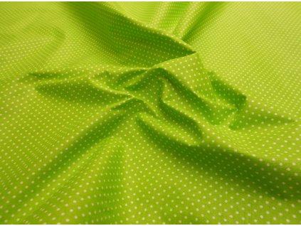 Bílý puntík na zelené