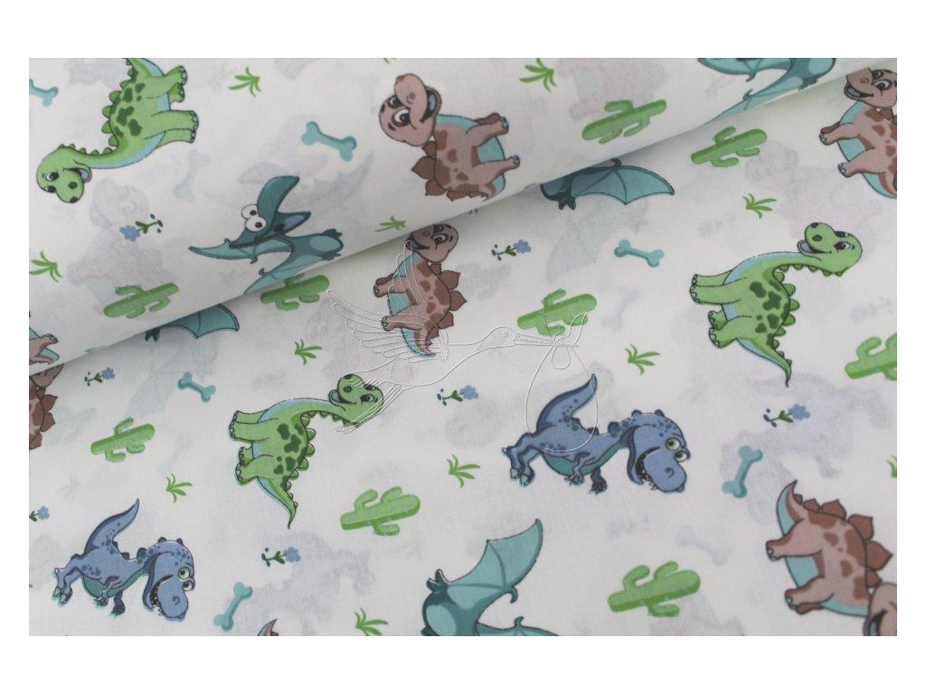 1005 6 baby dinosauri i bavlnene platno sire 240cm