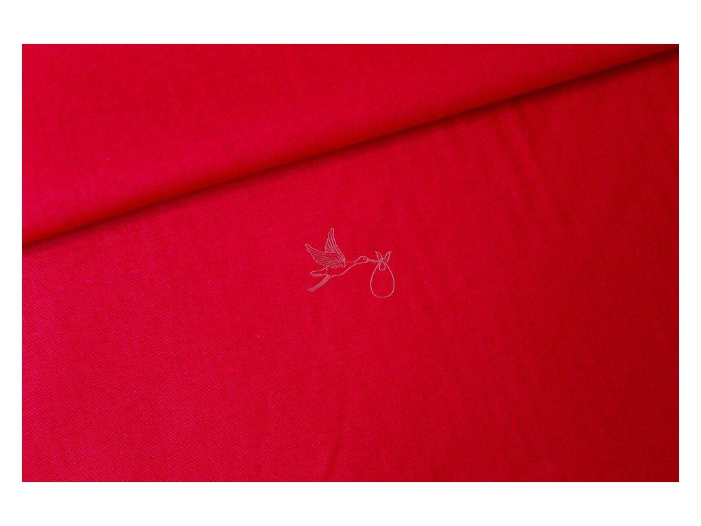 1332 2 cervena bavlnene platno sire 240cm