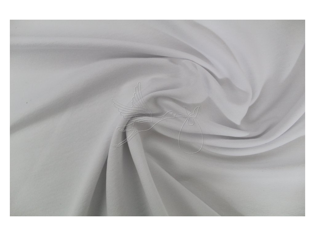 Teplákovina nepočesaná 240g - bílá - zbytek 0,45m