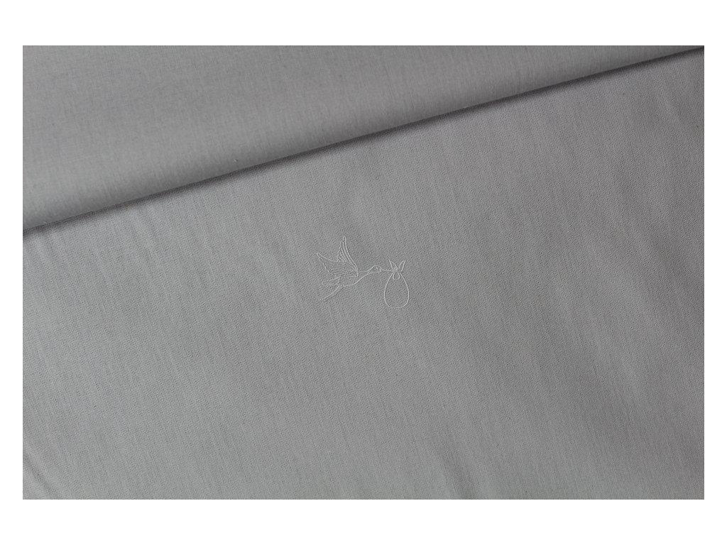 Světle šedá - bavlněné plátno, šíře 240cm - zbytek 1,78m