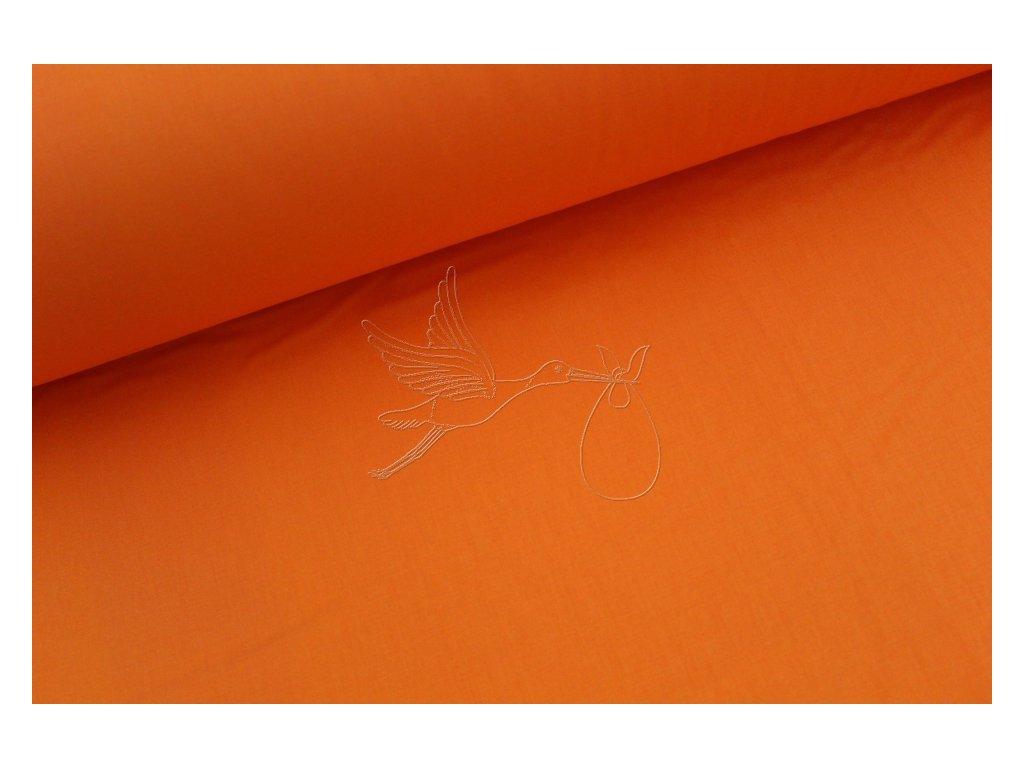 Oranžová - bavlněné plátno, šíře 240cm - zbytek 1m
