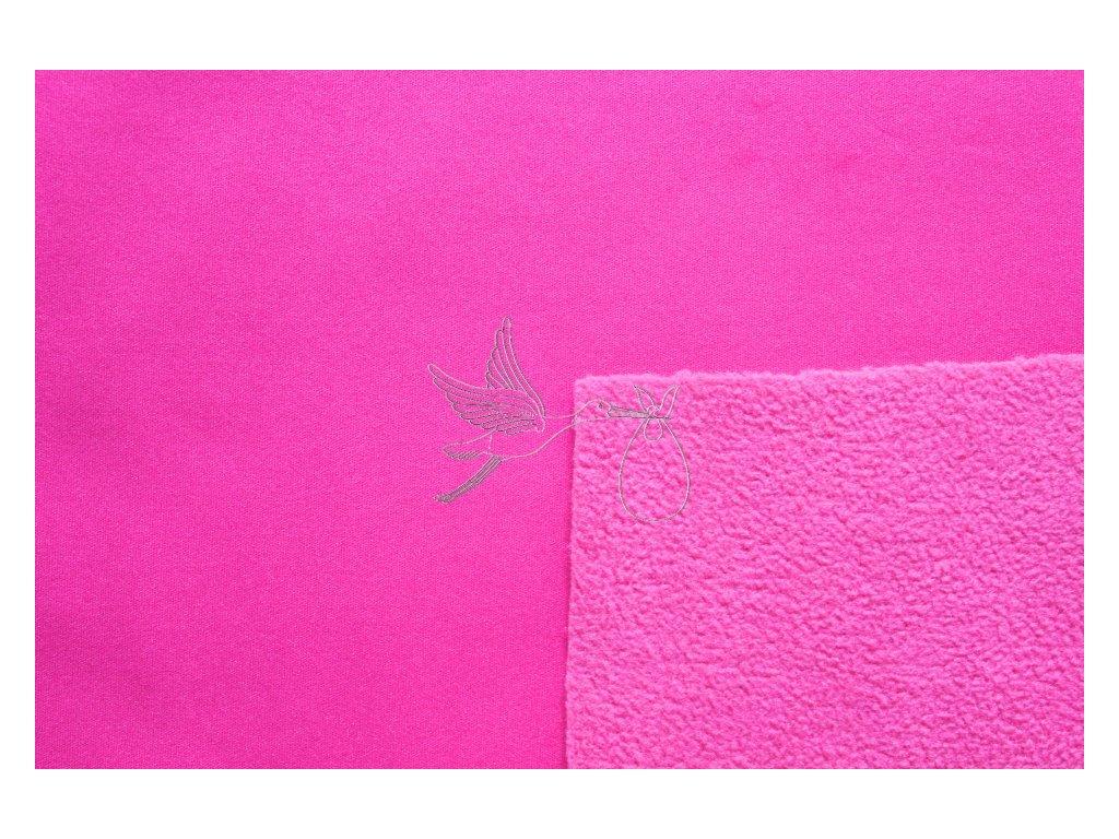 Softshell zimní pružný 18/12 - malinová - zbytek 0,75m