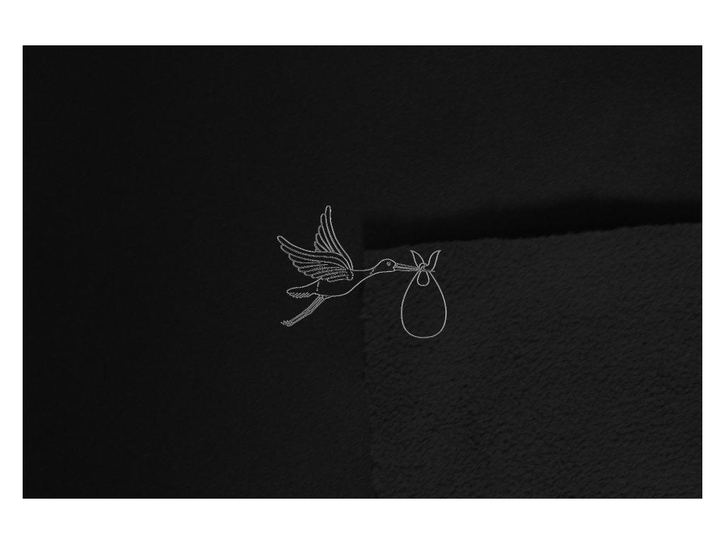 Softshell zimní pružný 18/12 - černá - zbytek 0,26m