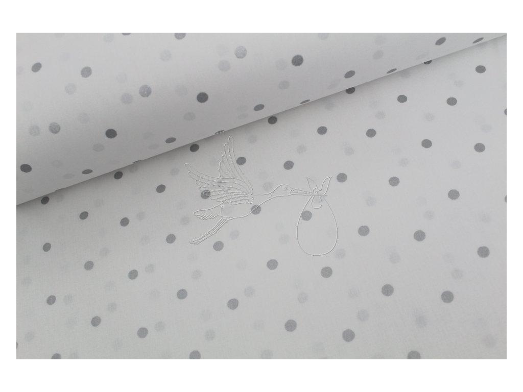 930 1 puntiky stribrne bavlnene platno sire 240cm