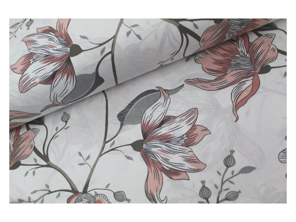 990 4 lilie ii velky vzor bavlnene platno sire 240cm