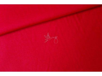 Červená - bavlněné plátno, šíře 240cm - zbytek 0,85m
