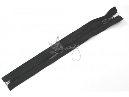 4890 spiralovy zip 40cm delitelny cerny oeko tex class i