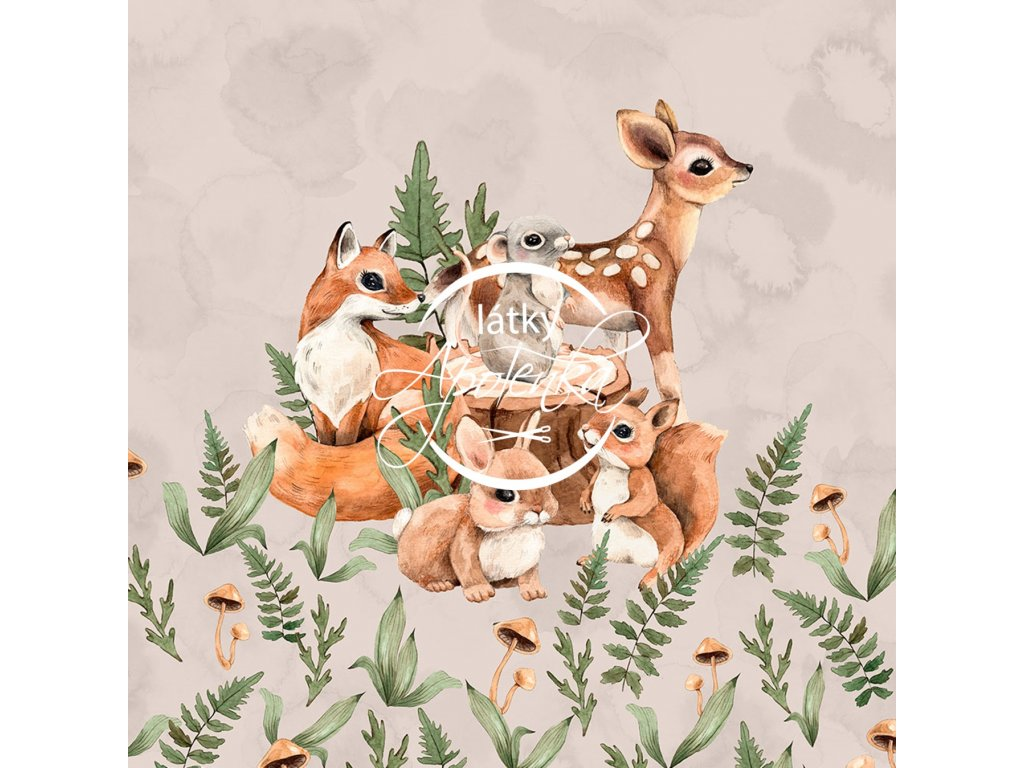 FTpanel forest babies beige