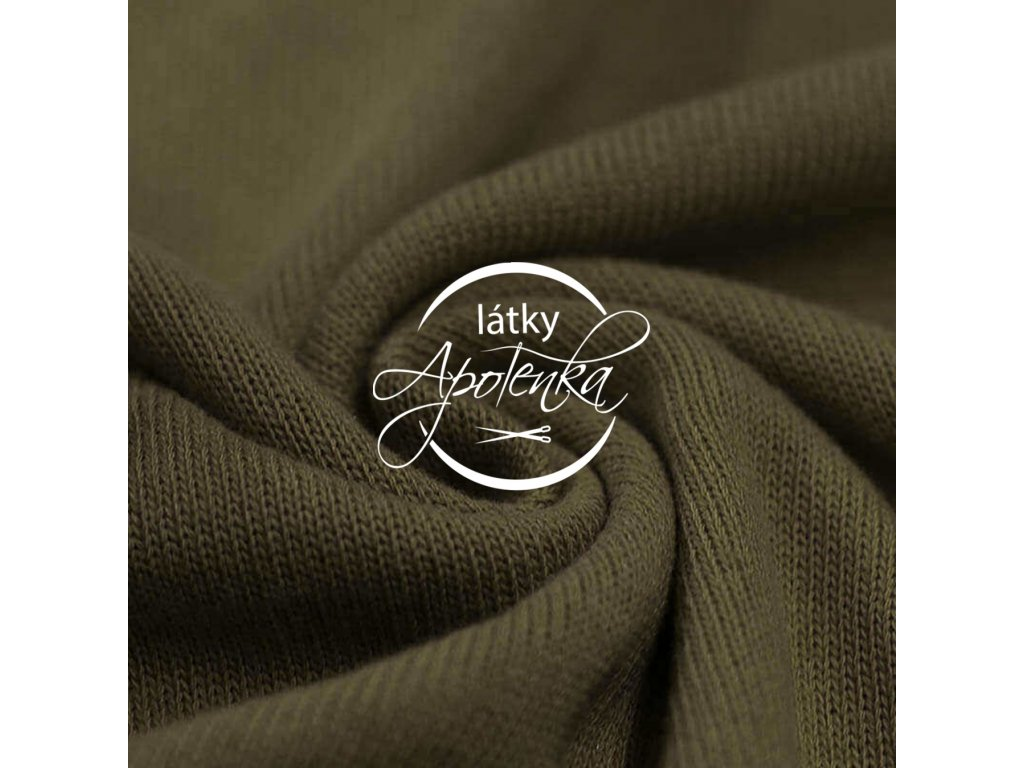 Baby knit fabric Army Green 800x800 R188404