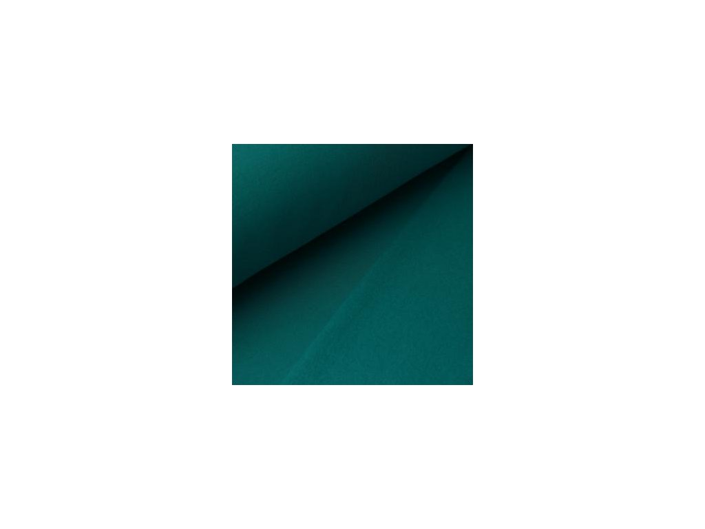 POČESANÁ teplákovina jednobarevná - petrolej 250g