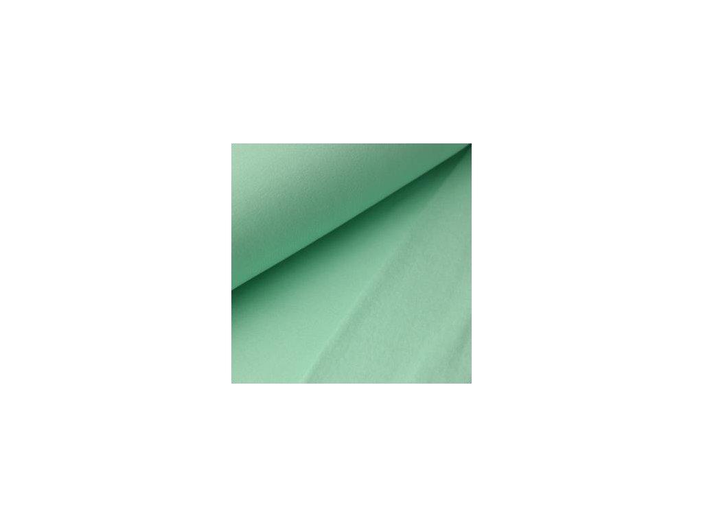 POČESANÁ teplákovina jednobarevná - mint 250g