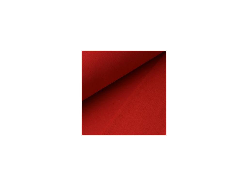 POČESANÁ teplákovina jednobarevná - červená 250g