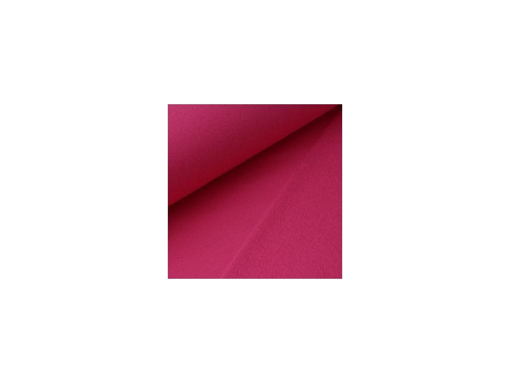 POČESANÁ teplákovina jednobarevná - fuchsie 250g