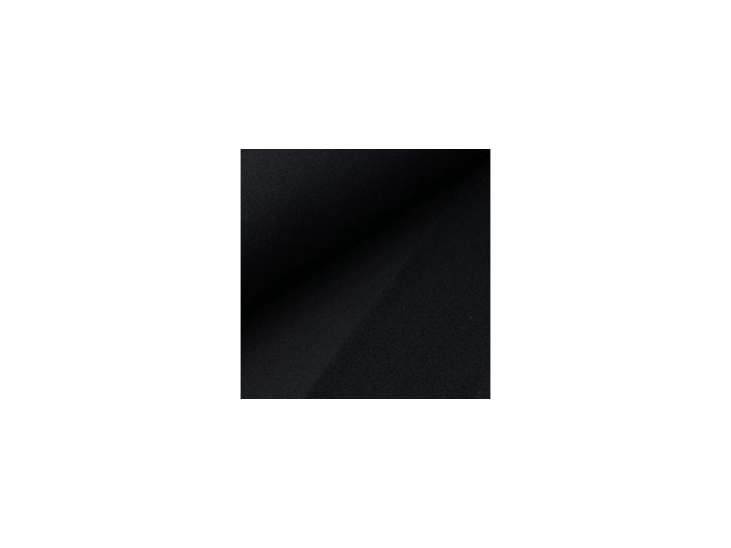 POČESANÁ teplákovina jednobarevná - černá 250g