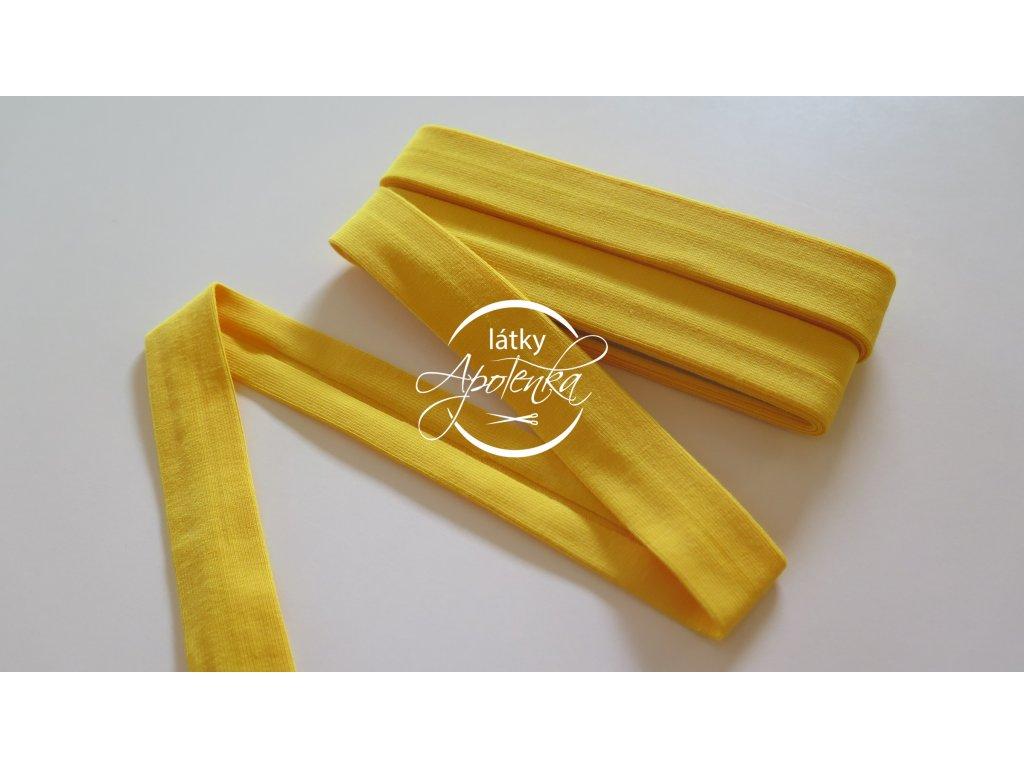 Šikmý proužek viskózový úplet 3M - žlutý