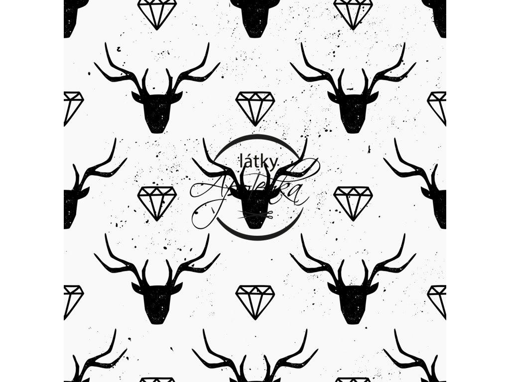 Teplákovina Jeleni s diamanty 250g