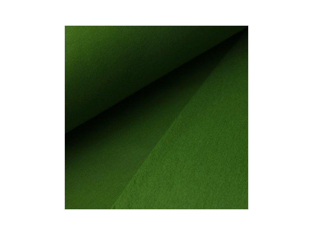 POČESANÁ teplákovina jednobarevná - zelená 250g