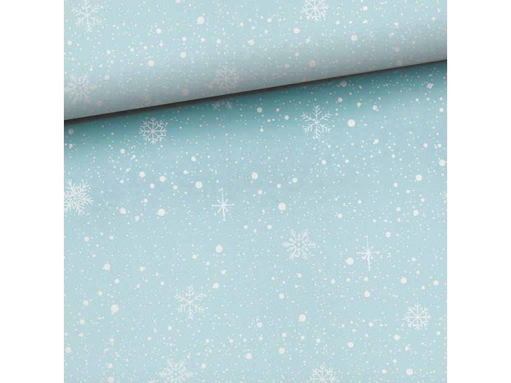 snow on blue
