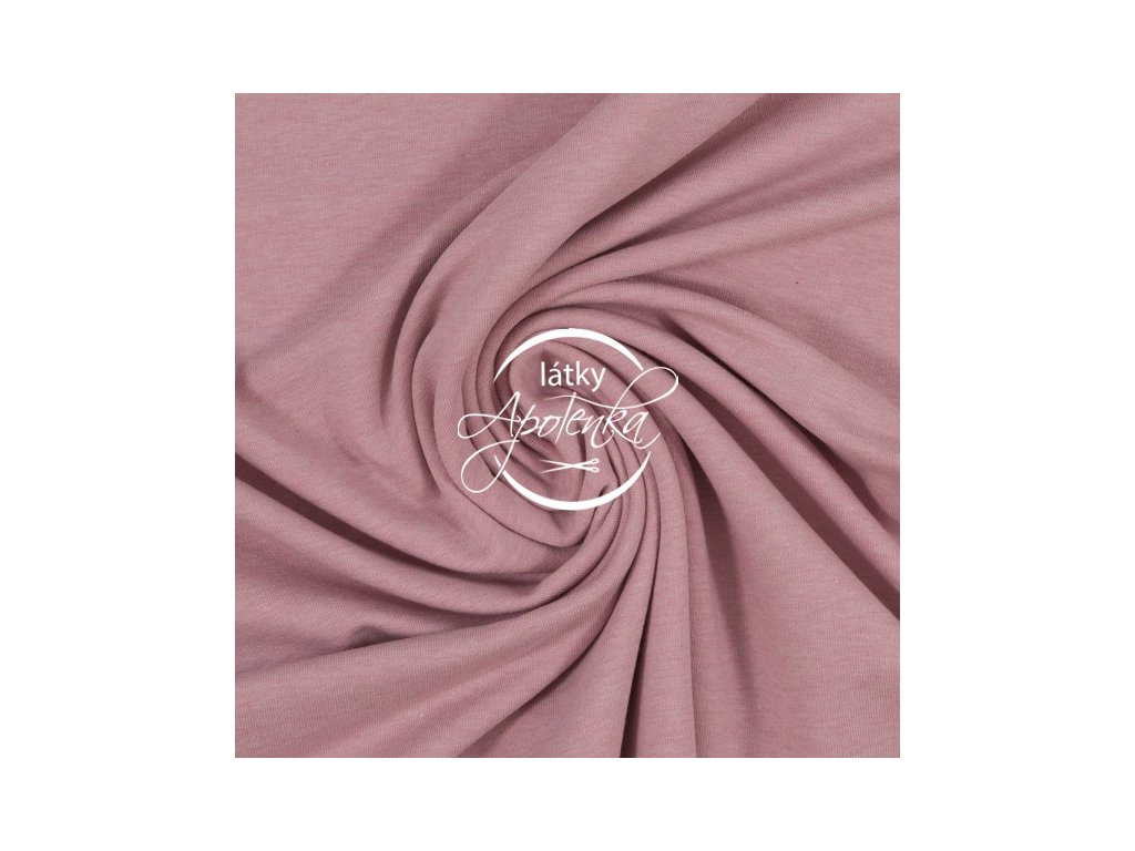 Teplákovina jednobarevná starorůžová melé 240g