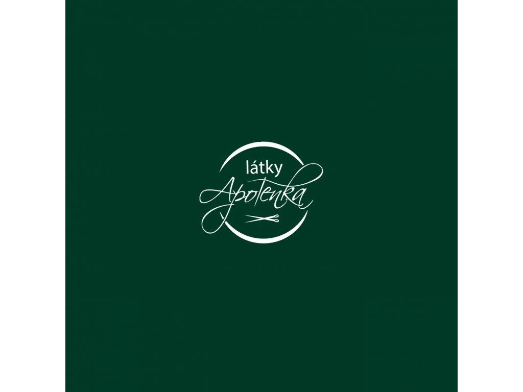 Bavlněný jednobarevný úplet - tm. zelený 230g