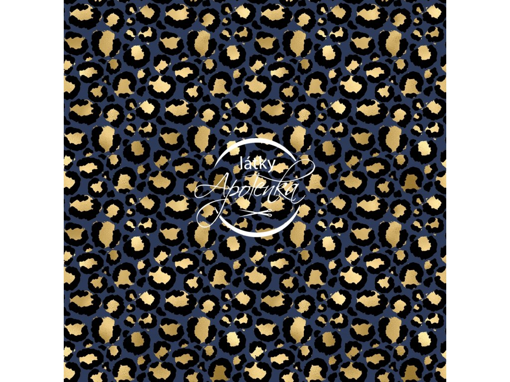 navy and gold animal print 0010 x