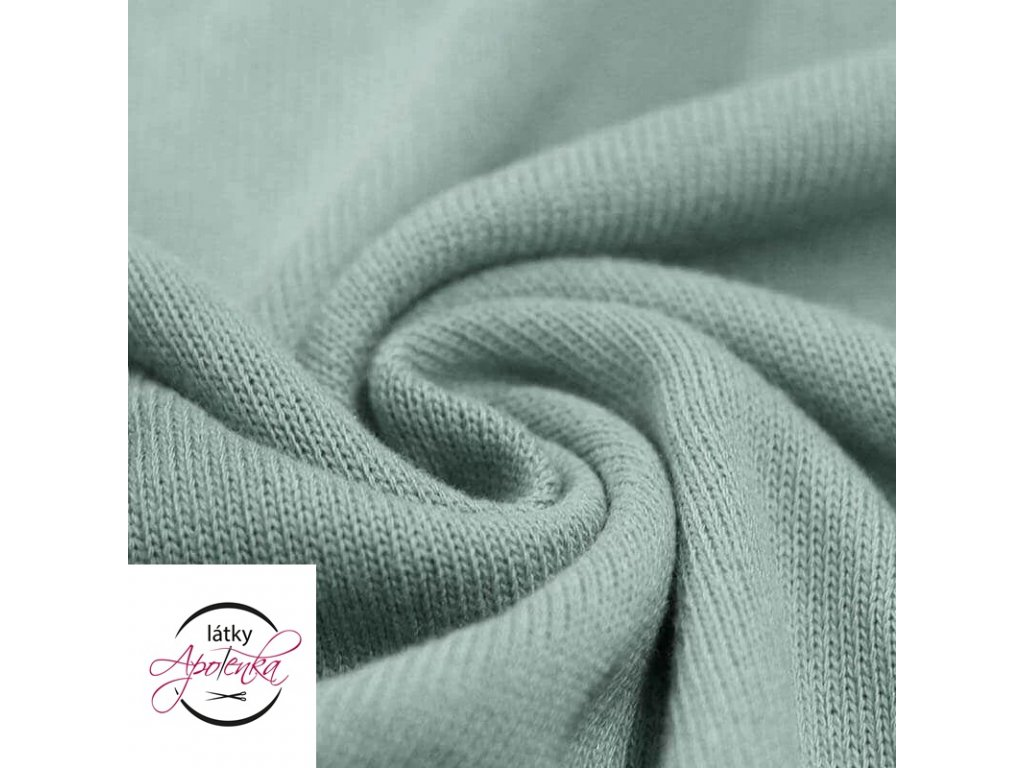 Baby knit fabric Sea Green 800x800