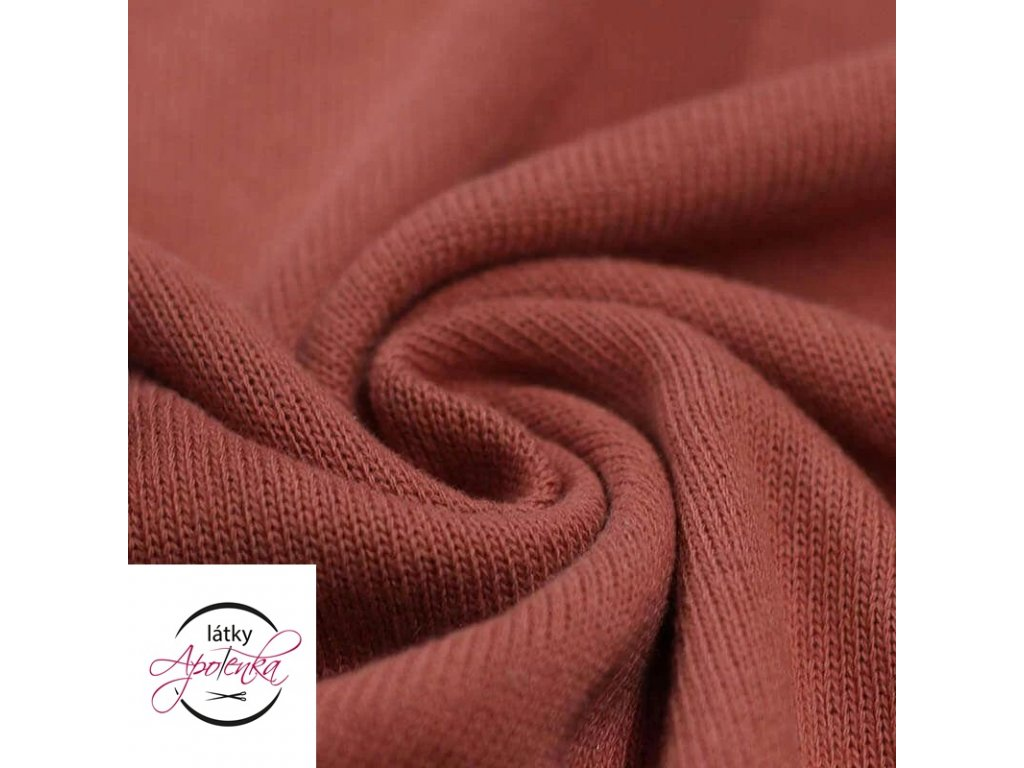 Baby knit fabric Burnt Orange 800x800